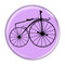 "Bike Velocipede Boneshaker Cycling Biking Lavender 1.5"" Pinback Button"