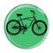 """Bike Road Cruiser Cycling Biking Turquoise 1.5"""" Pinback Button"""