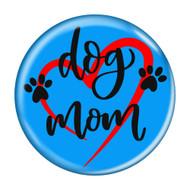 """Dog Mom Heart Aqua 1.5"""" Refrigerator Magnet"""