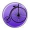 "Bike Penny Farthing  Cycling Biking Purple 1.5"" Refrigerator Magnet"