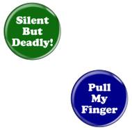 Pull My Finger & Silent But Deadly! Fart Bottle Opener Magnets - 2 Pack