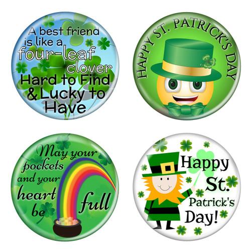 "Saint Patrick's Day 1.5"" Refrigerator Magnets - 4 Pack"
