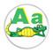 "Letter A Alligator Initial Alphabet 2.25"" Refrigerator Magnet"