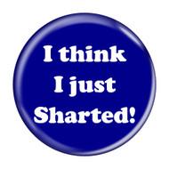 """I Think I Just Sharted! Fart Dark Blue 2.25"""" Refrigerator Bottle Opener Magnet"""