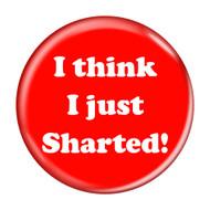 """I Think I Just Sharted! Fart Red 2.25"""" Refrigerator Bottle Opener Magnet"""