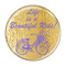 """Life is a Beautiful Ride! Periwinkle Cycling Bicycle 1.5"""" Refrigerator Magnet"""