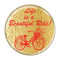 """Life is a Beautiful Ride! Red Cycling Bicycle 1.5"""" Refrigerator Magnet"""