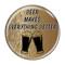 "Beer Makes Everything Better Wood Grain 1.5"" Refrigerator Magnet"