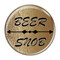 "Beer Snob Wood Grain 1.5"" Refrigerator Magnet"