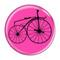 "Bike Velocipede Boneshaker Cycling Biking Fuchsia 1.5"" Refrigerator Magnet"