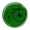 "Bike Velocipede Boneshaker Cycling Biking Green 1.5"" Refrigerator Magnet"