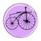 "Bike Velocipede Boneshaker Cycling Biking Lavender 1.5"" Refrigerator Magnet"
