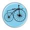 "Bike Velocipede Boneshaker Cycling Biking Sky Blue 1.5"" Refrigerator Magnet"