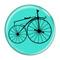 "Bike Velocipede Boneshaker Cycling Biking Turquoise 1.5"" Refrigerator Magnet"