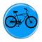 "Bike Road Cruiser Cycling Biking Aqua 1.5"" Refrigerator Magnet"