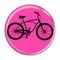 "Bike Road Cruiser Cycling Biking Fuchsia 1.5"" Refrigerator Magnet"