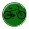 "Bike Road Cruiser Cycling Biking Green 1.5"" Refrigerator Magnet"