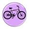"Bike Road Cruiser Cycling Biking Lavender 1.5"" Refrigerator Magnet"