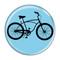 "Bike Road Cruiser Cycling Biking Sky Blue 1.5"" Refrigerator Magnet"