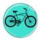 "Bike Road Cruiser Cycling Biking Turquoise 1.5"" Refrigerator Magnet"