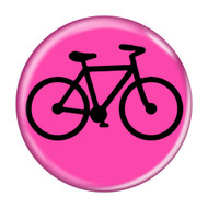 "Bike Silhouette Cycling Biking 1.5"" Refrigerator Magnets"