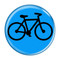 "Bike Silhouette Cycling Biking Aqua 1.5"" Refrigerator Magnet"
