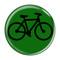 "Bike Silhouette Cycling Biking Green 1.5"" Refrigerator Magnet"