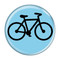 "Bike Silhouette Cycling Biking Sky Blue 1.5"" Refrigerator Magnet"