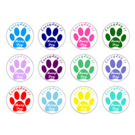 Everyday is Hump Day Dog Paw Print Pinback Buttons
