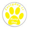 """Everyday is Hump Day Dog Paw Turquoise 1.5"""" Pinback Button"""