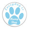"""Everyday is Hump Day Dog Paw Yellow 1.5"""" Pinback Button"""