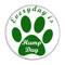 """Everyday is Hump Day Dog Paw Fuschia 1.5"""" Pinback Button"""