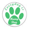 """Everyday is Hump Day Dog Paw Magenta 1.5"""" Pinback Button"""