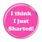 "I Think I Just Sharted! Fart Fuschia 1.5"" Refrigerator Magnet"