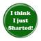 "I Think I Just Sharted! Fart Green 1.5"" Refrigerator Magnet"