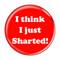 """I Think I Just Sharted! Fart Red 1.5"""" Refrigerator Magnet"""