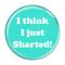 "I Think I Just Sharted! Fart Turquoise 1.5"" Refrigerator Magnet"