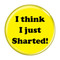 """I Think I Just Sharted! Fart Yellow 1.5"""" Refrigerator Magnet"""