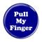 """Pull My Finger Fart Dark Blue 1.5"""" Refrigerator Magnet"""