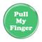 "Pull My Finger Fart Fuschia 1.5"" Refrigerator Magnet"