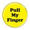"""Pull My Finger Fart Green 1.5"""" Refrigerator Magnet"""