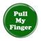 """Pull My Finger Fart Magenta 1.5"""" Refrigerator Magnet"""