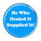 "He Who Denied It Supplied It! Fart Aqua 1.5"" Refrigerator Magnet"