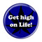 "Get high on Life! Dark BlueDark Blue 1.5"" Refrigerator Magnet"