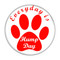 """Everyday is Hump Day Dog Paw Print Red 1.5"""" Refrigerator Magnet"""