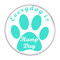 """Everyday is Hump Day Dog Paw Print Turquoise 1.5"""" Refrigerator Magnet"""