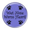 """Wet Nose Warm Heart! Periwinkle 1.5"""" Refrigerator Magnet"""
