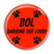 """BOL Barking Out Loud! Red 1.5"""" Refrigerator Magnet"""