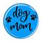 """Dog Mom Aqua 1.5"""" Refrigerator Magnet"""