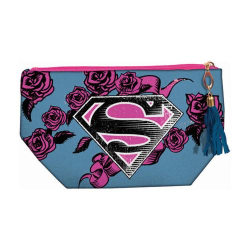 Superman Logo Accessory Makeup Bag